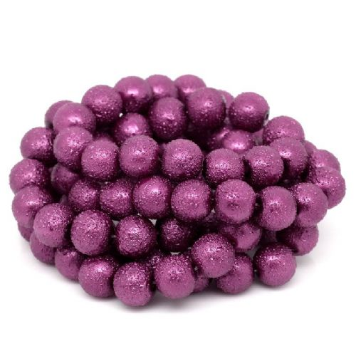 85 Violet Stardust Round Glass Beads 11mm Dia
